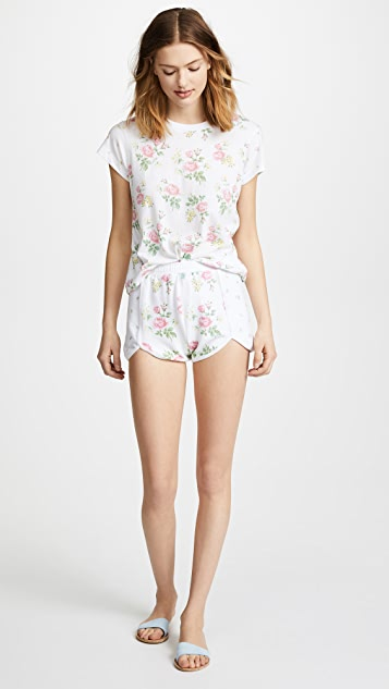 Wildfox Patchwork Floral Shorts
