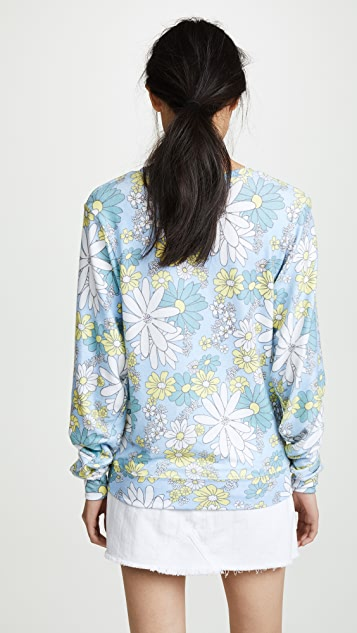Wildfox Daisy Wallpaper Sweatshirt