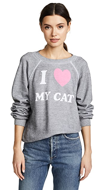 Wildfox I love My Cat Sweatshirt