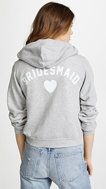 Wildfox Bridesmaid Zip Up Hoodie