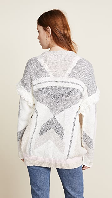 Wildfox Sunset Geometry Cardigan