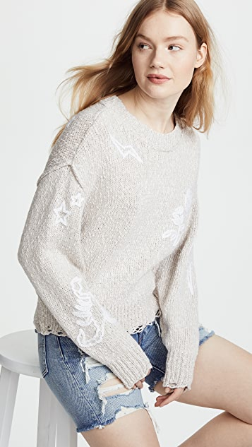 Wildfox Dream Icons Embroidered Sweater