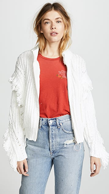 Wildfox Christophe Zip Cardigan