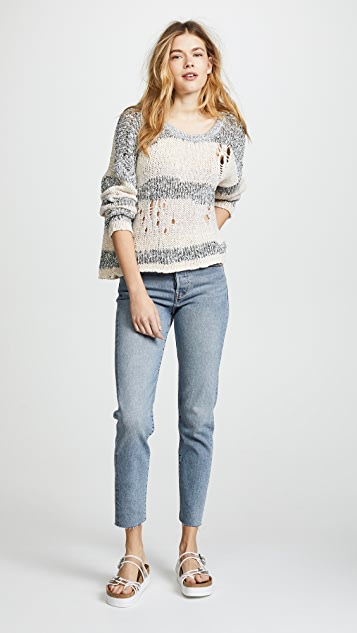 Wildfox Deconstructed Stripe Sweater