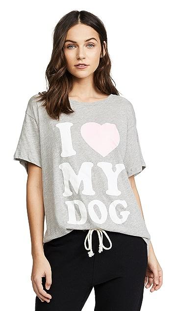 Wildfox I Love My Dog Tee