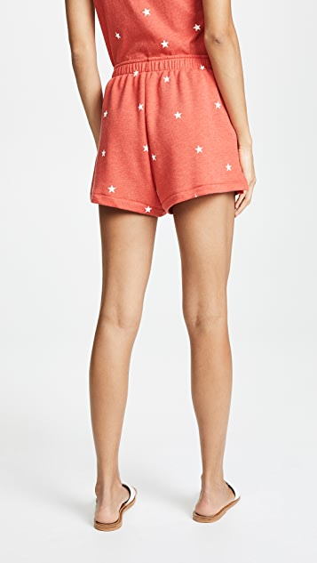 Wildfox Football Star Golden Shorts