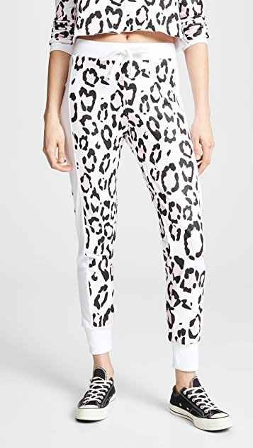 Wildfox Blush Leopard Sweatpants