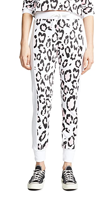 Wildfox Blush Leopard Sweatpants