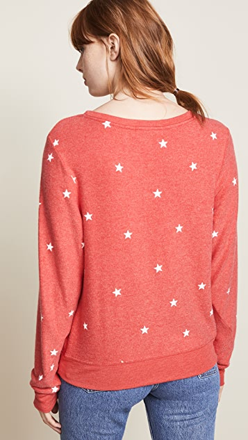 Wildfox Star Baggy Beach Jumper Sweatshirt