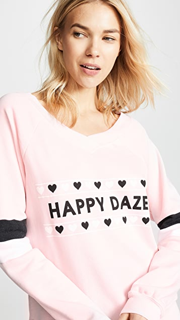 Wildfox Толстовка с надписью «Happy Daze»