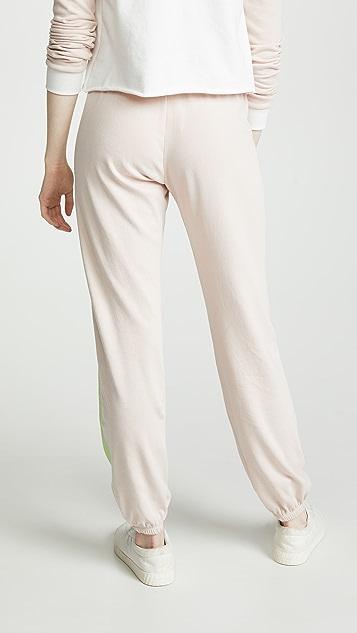 Wildfox Спортивные брюки Easy в полоску