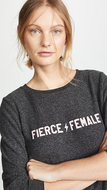 Wildfox Толстовка с надписью «Fierce Female»