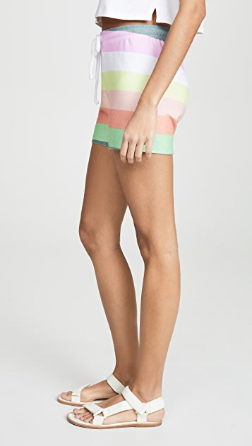 Wildfox Sorbet Stripe Cart Shorts