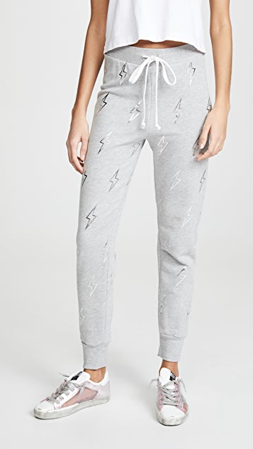 Silver Bolt Jack Joggers by Wildfox