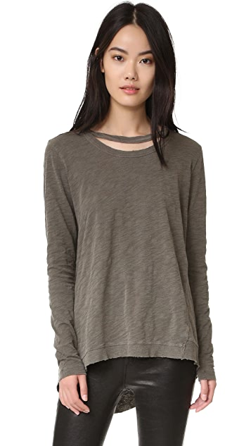 Wilt Raw Edge Double Neck Pullover