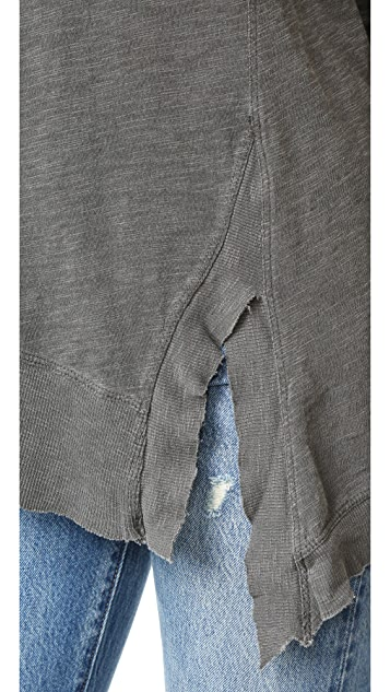 Wilt Slanted Seamed Tunic Tee Long Sleeve