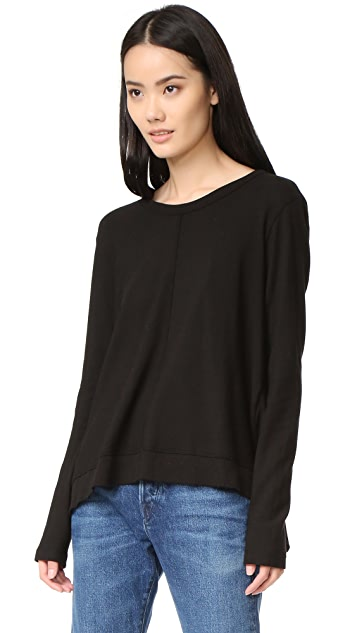 Wilt Slouchy Tie Back Long Sleeve Tee
