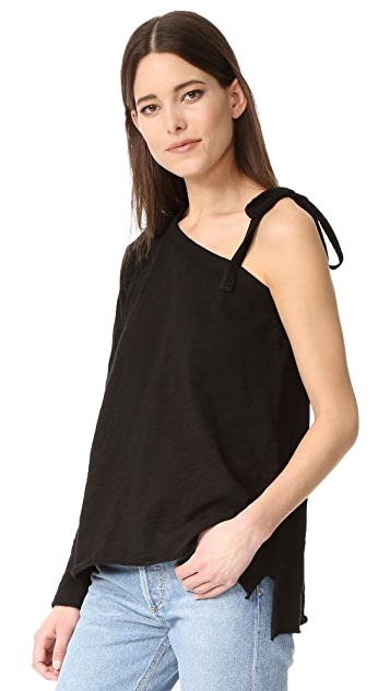 Wilt One Shoulder with Tie Tee