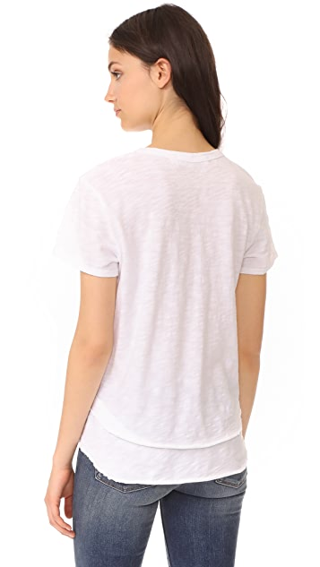 Wilt Short Sleeve Mock Layer Tee