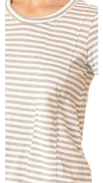 Wilt Baby Fractured Striped Short Sleeve Tee