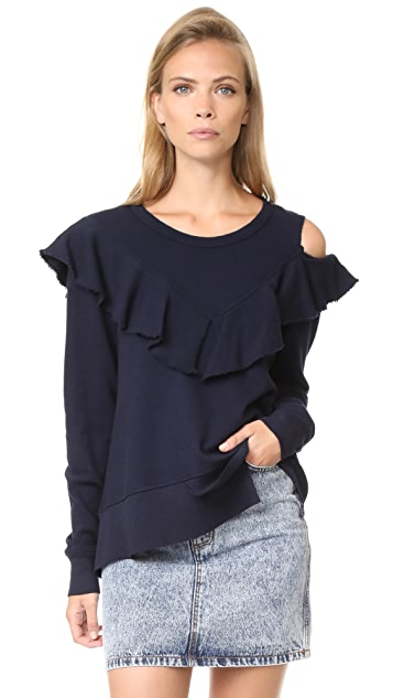 Wilt Ruffle Yoke Crew Neck Shirt