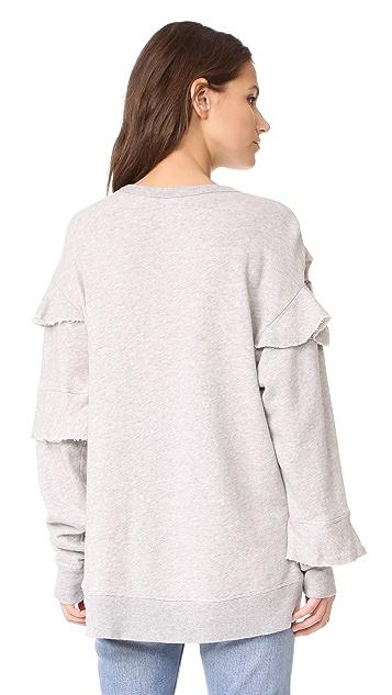 Wilt Raw Ruffle Sweatshirt