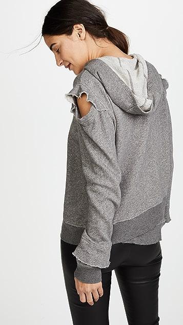 Wilt Ruffle Cold Shoulder Hoodie