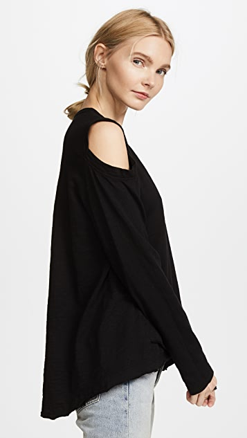 Wilt Cutout Shoulder Tunic Tee