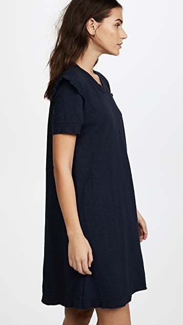 Wilt Ruffle Sleeve Trapeze Dress