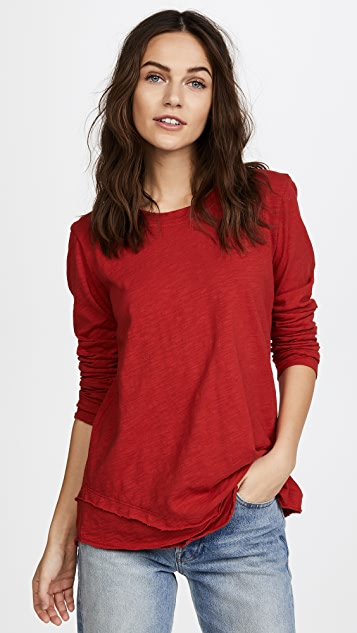 Wilt Long Sleeve Mock Layer Tee