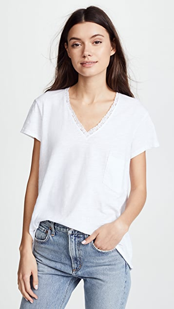 Wilt Slouchy BF Baby Lace Edge Tee