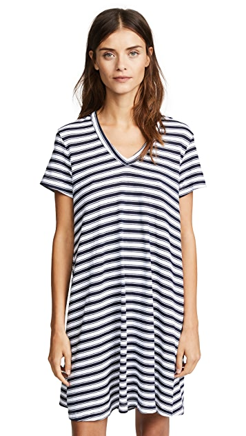 Wilt V Neck Striped Trapeze Dress