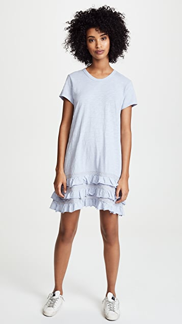 Wilt Tee Dress with Lace Ruffle Trim