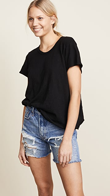 Wilt Baby Slub Shrunken Slit Back Tee - Black