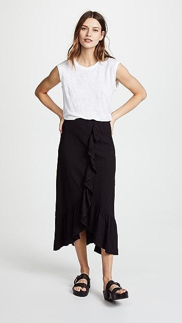 Wilt Long Flounce Skirt