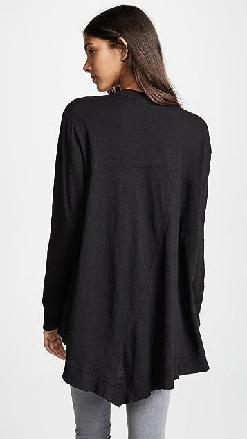 狂野印花 休闲罗纹混合开襟衫