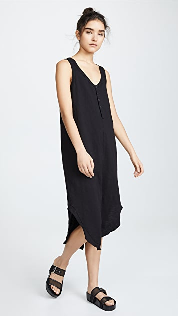 Wilt Henley Midi Tank Dress