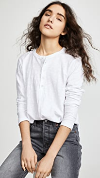 Shifted Henley Long Sleeve Tee