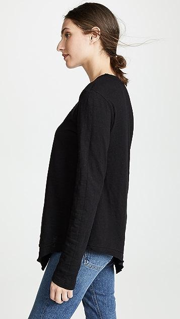 Wilt Slant Hem Long Sleeve Tunic