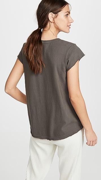 狂野印花 柔软衣袖汤匙领 T 恤