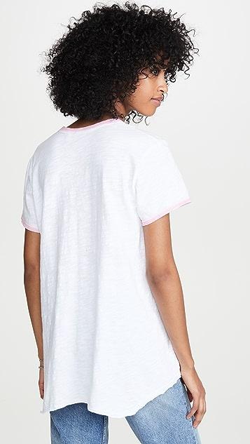 Wilt Shrunken Spray Ringer T 恤
