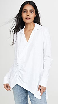 Ruched Collared Tee