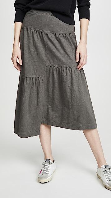 狂野印花 多层半身裙