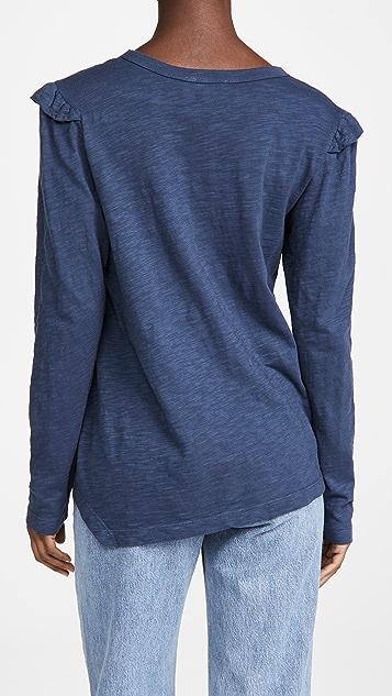 狂野印花 Shrunken 直筒长袖 T 恤