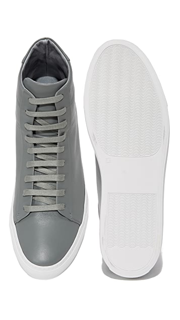 Wings + Horns Court Leather High Top Sneakers
