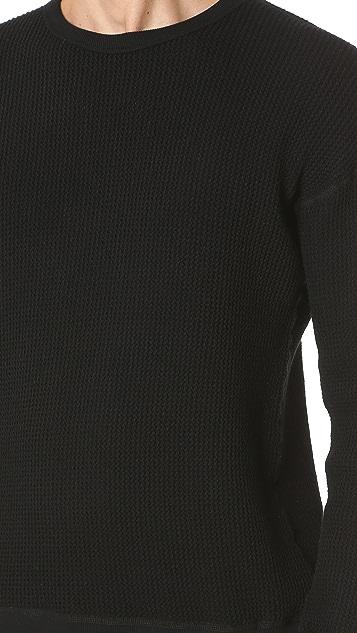 Wings + Horns Knit Wool Crew Neck Sweatshirt