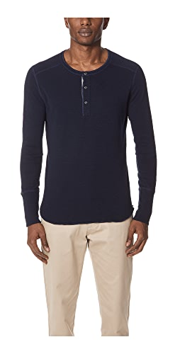 Wings + Horns - 1x1 Slub Long Sleeve Henley