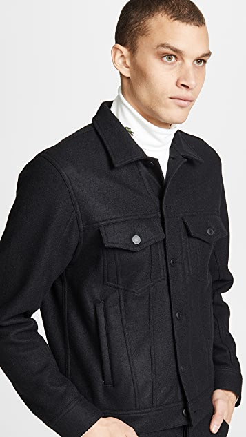 Wings + Horns Compressed Wool Trucker Jacket