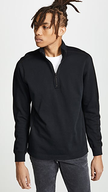Wings + Horns Inverted Half Zip Sweatshirt