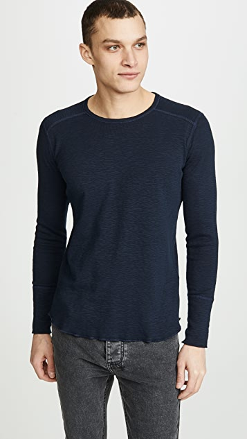 Wings + Horns 1X1 Slub Crew Neck Pullover